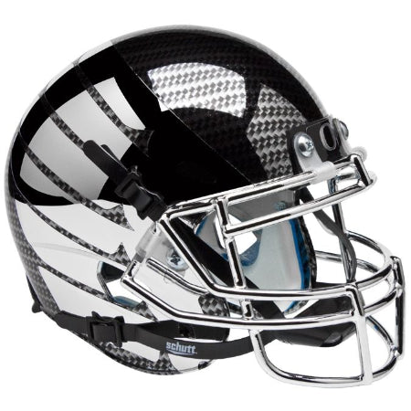 Oregon Ducks Smoke AquaTech Wing Logo Schutt XP Mini Helmet - Alternate 8