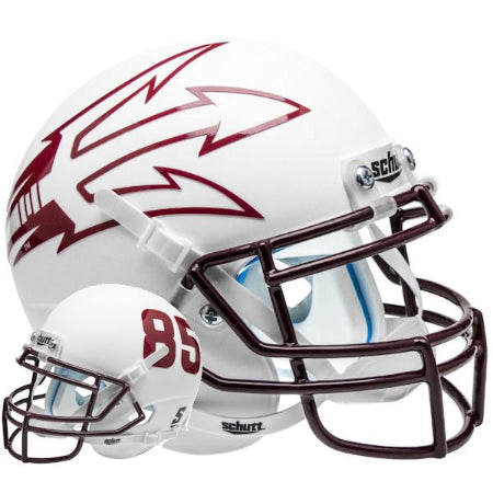 Arizona State Sun Devils White with 85 Schutt XP Mini Helmet - Alternate 8