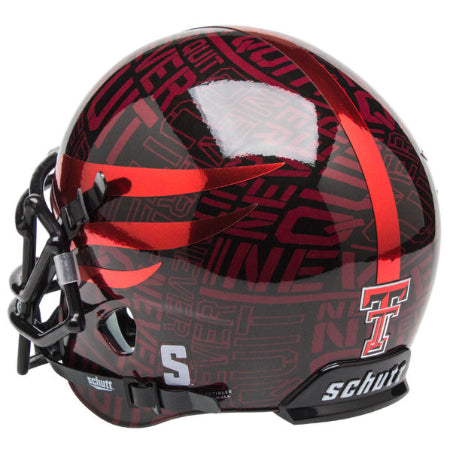 Texas Tech Red Raiders Never Quit Schutt XP Mini Helmet - Alternate 9