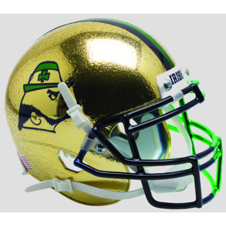 Notre Dame Fighting Irish Textured with Leprechaun Schutt XP Mini Helmet - Alternate 9