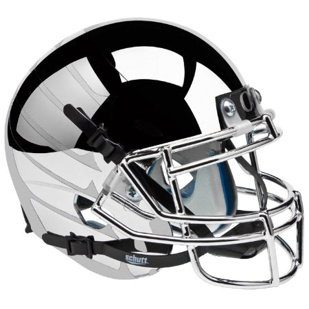 Oregon Ducks Chrome Smoke Wing Logo Schutt XP Mini Helmet - Alternate 9