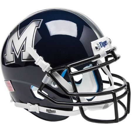 Memphis Tigers Chrome Decal Schutt XP Mini Helmet - Alternate 2