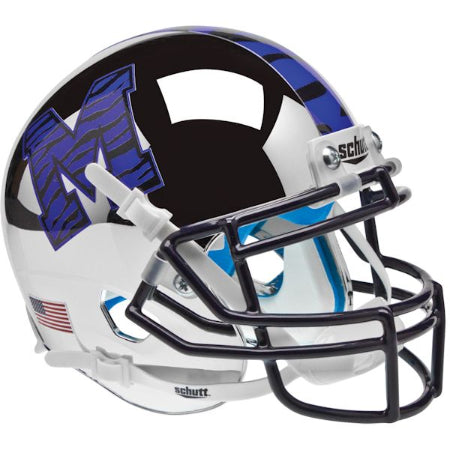 Memphis Tigers Chrome Schutt XP Mini Helmet - Alternate 1
