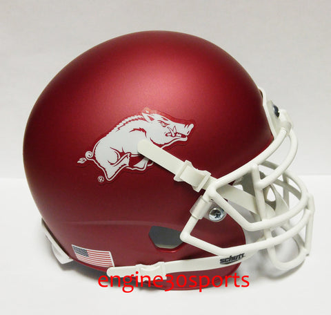 Arkansas Razorbacks Matte Crimson Schutt XP Mini Helmet