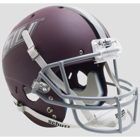 Southern Illinois Salukis Matte Maroon Schutt XP Replica Helmet - Alternate 1