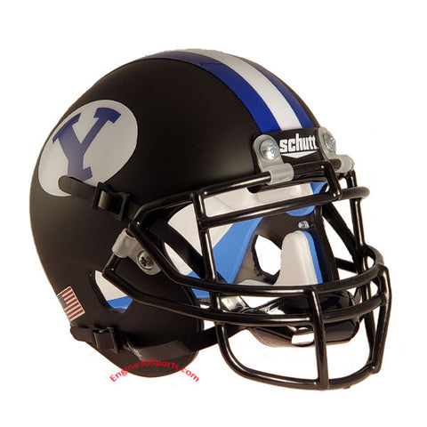 BYU Cougars Matte Black Schutt XP Mini Helmet - Alternate 1