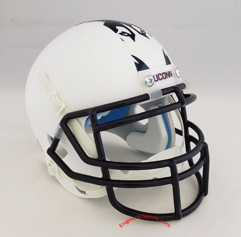 UConn Huskies Matte White Schutt XP Mini Helmet - Alternate 2