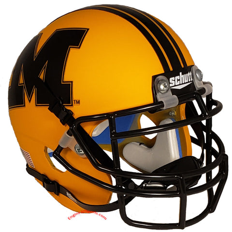 Missouri Tigers Matte Yellow Schutt XP Mini Helmet - Alternate 22