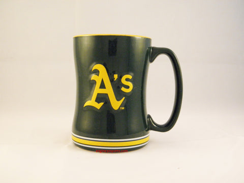 Oakland A's 14oz Sculpted Coffee Mug
