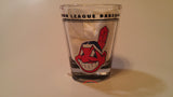 Cleveland Indians Chief Wahoo 2oz. Hi-Def Shot Glass - Blue Background 2