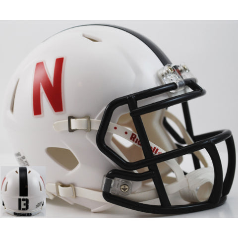 Nebraska Cornhuskers Riddell Speed Mini Helmet - 2013 White Alternate