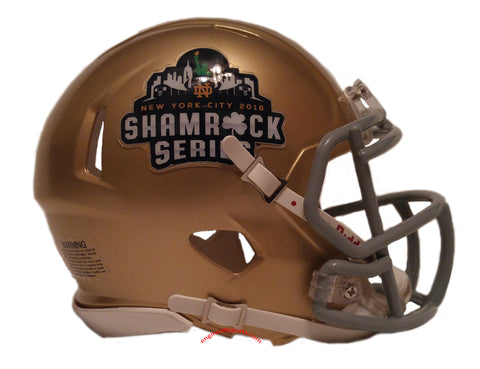 Notre Dame Fighting Irish Riddell Speed Mini Helmet - 2018 Shamrock Series