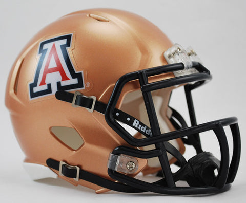 Arizona Wildcats Riddell Speed Mini Helmet - Copper Style