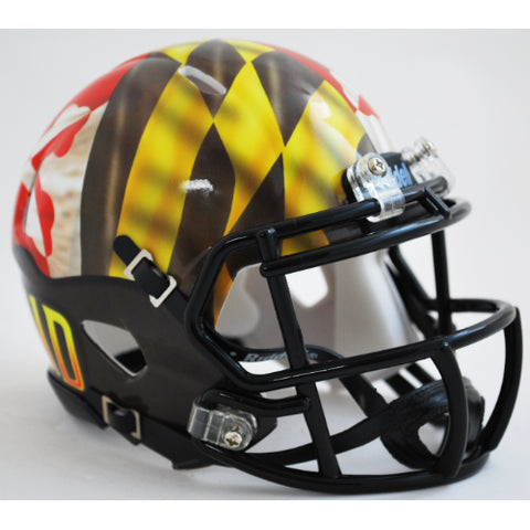 Maryland Terrapins Pride Alternate Riddell Speed Mini Helmet