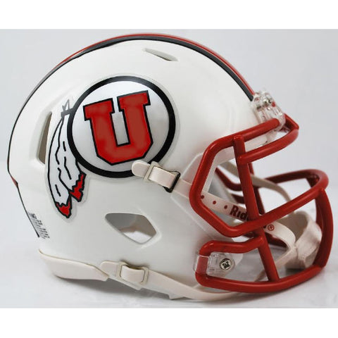 Utah Utes Riddell Speed Mini Helmet - White Alternate