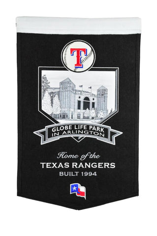 "Texas Rangers 20""x15"" Wool Stadium Banner - Global Life Park In Arlington"