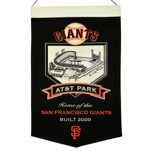 "San Francisco Giants 20""x15"" Wool Stadium Banner - AT&T Park"