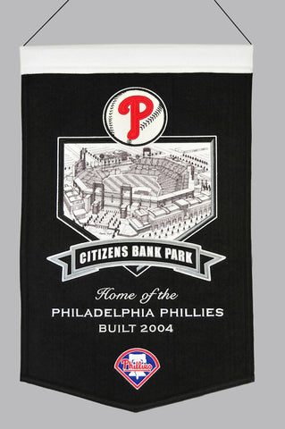 "Philadelphia Phillies 20""x15"" Wool Stadium Banner - Citizens Bank Park"