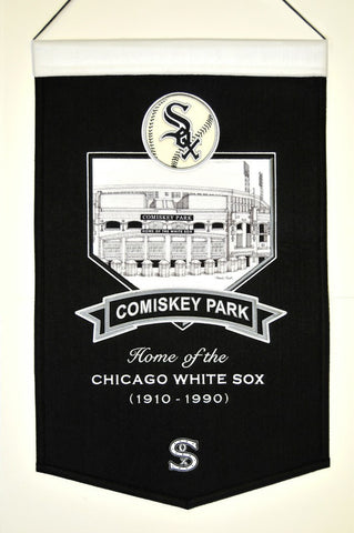 "Chicago White Sox 20""x15"" Wool Stadium Banner - Comiskey Park"