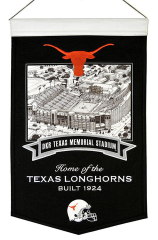 "Texas Longhorns 20""x15"" Wool Stadium Banner - DKR Texas Memorial Stadium"