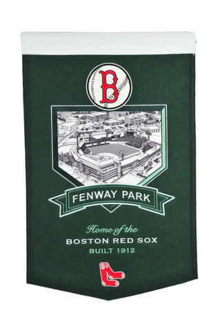 "Boston Red Sox 20""x15"" Wool Stadium Banner - Fenway Park"