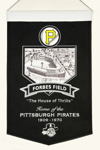"Pittsburgh Pirates 20""x15"" Wool Stadium Banner - Forbes Field"