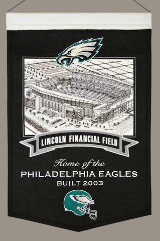 "Philadelphia Eagles 20""x15"" Wool Stadium Banner - Lincoln Financial Field"