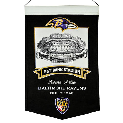 "Baltimore Ravens 20""x15"" Wool Stadium Banner - M&T Bank Stadium"