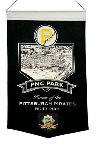 "Pittsburgh Pirates 20""x15"" Wool Stadium Banner - PNC Park"