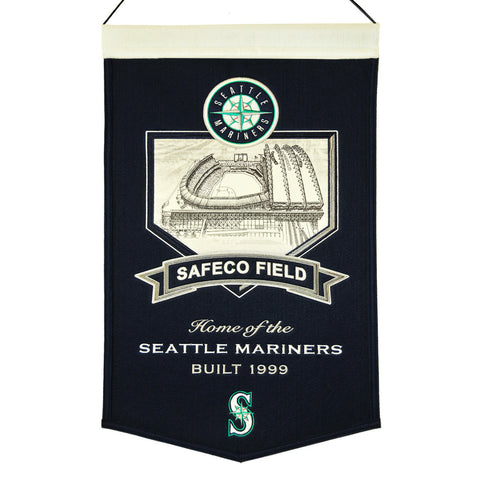 "Seattle Mariners 20""x15"" Wool Stadium Banner - Safeco Field"