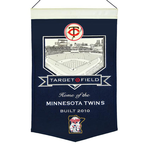"Minnesota Twins 20""x15"" Wool Stadium Banner - Target Field"