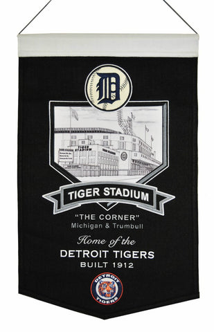 "Detroit Tigers 20""x15"" Wool Stadium Banner - Tiger Stadium"
