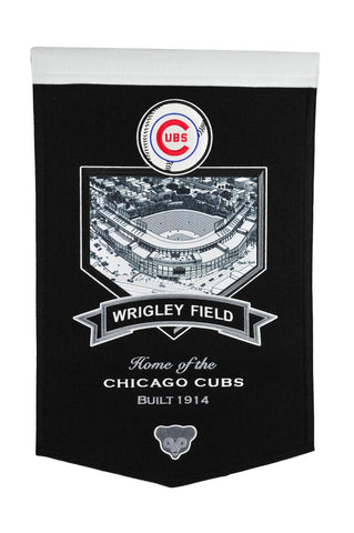 "Chicago Cubs 20""x15"" Wool Stadium Banner - Wrigley Field"