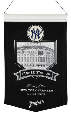"New York Yankees 20""x15"" Wool Stadium Banner - Yankee Stadium"