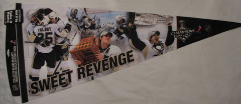 "Pittsburgh Penguins Stanley Cup Champions 17""x40"" Premium Pennant - Sweet Revenge"