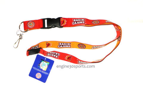 "Louisiana Lafayette Ragin Cajuns 24"" Two Tone Breakaway Lanyard"