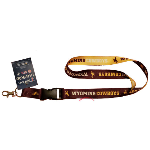 "Wyoming Cowboys 22"" Lanyard with Detachable Buckle"