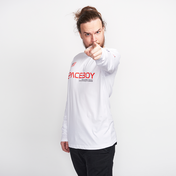 Spaceboy Cadet Long Sleeve White Tee