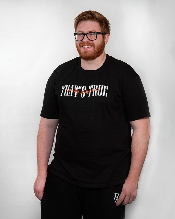 "PMW ""That's True"" Black Tee"