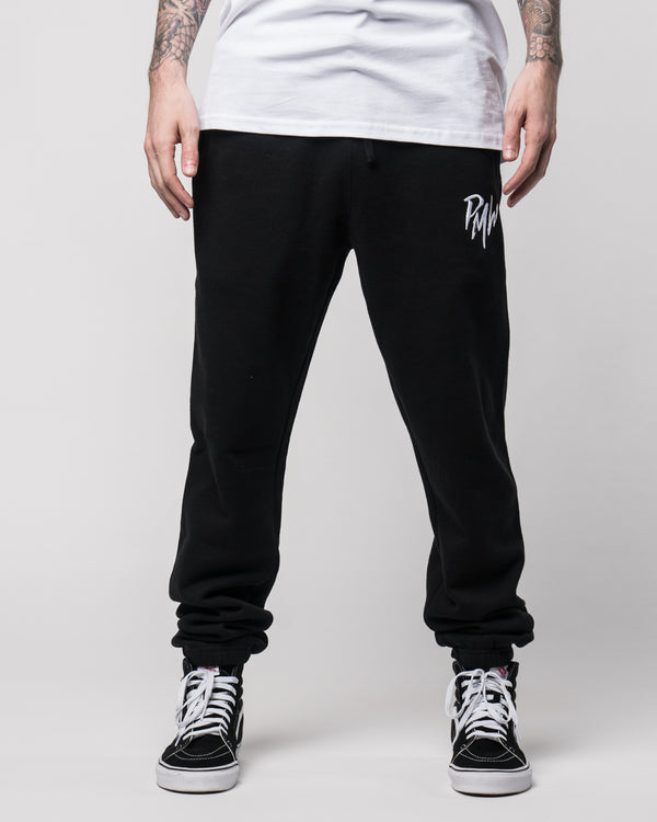 "PMW ""Logo"" Black Leisure Pants"