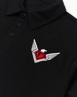 AJSA Black Polo - The Logo
