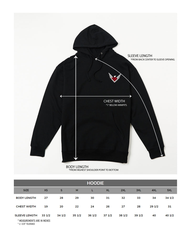 AJSA Black Pullover - The Logo