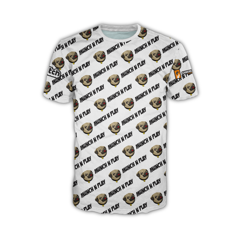 "Munch n Play ""All Over White"" DryFit Tee"