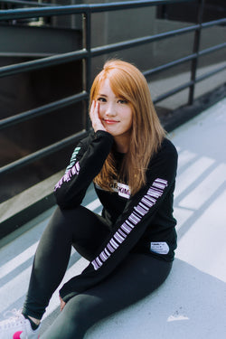 AngelsKimi Black Long Sleeve Tee