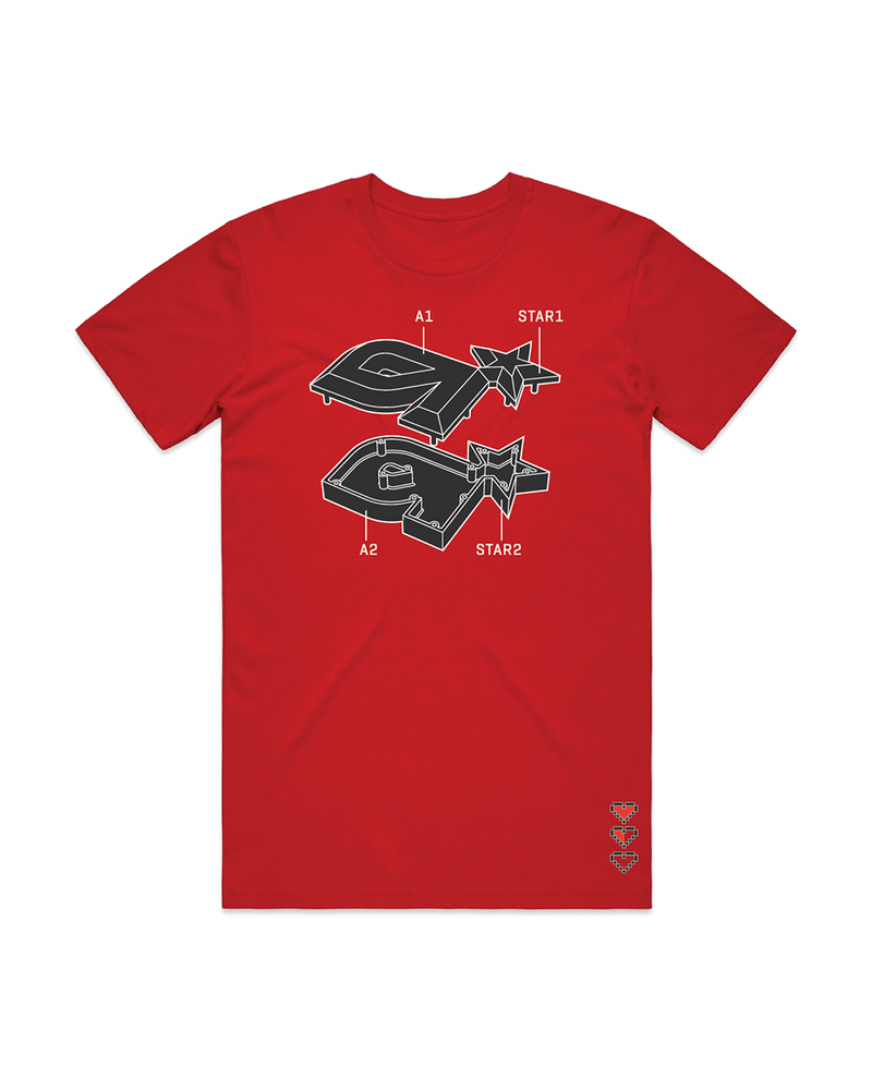 ASTRO Schematic Red Tee