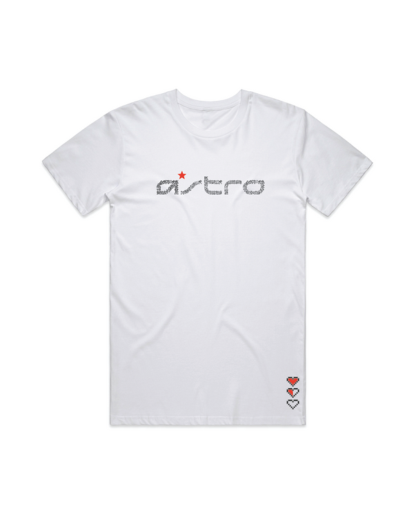Astro Wordmark Gamer White Tee