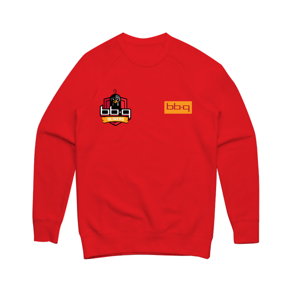 bbq Olivers Red Crew Sweater