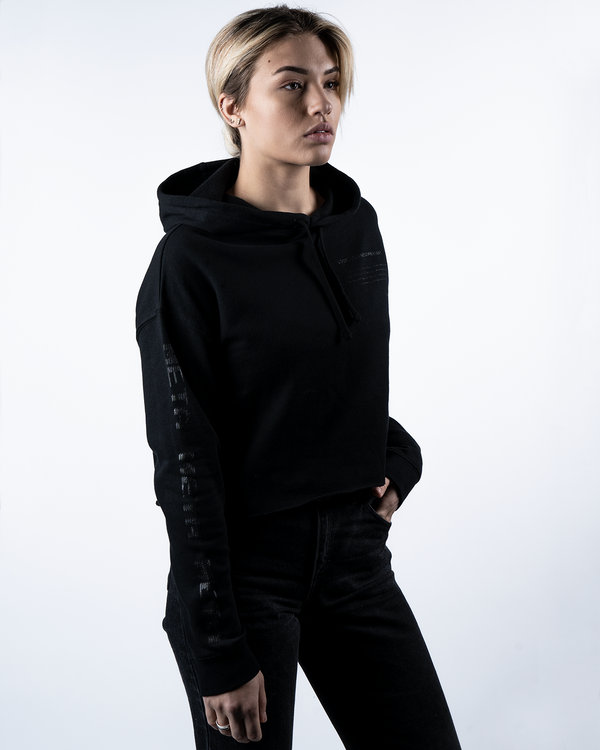 Blackout Female Crop Hoodie