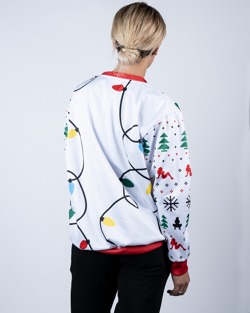 """It's Lit"" X-Mas Sweater White"