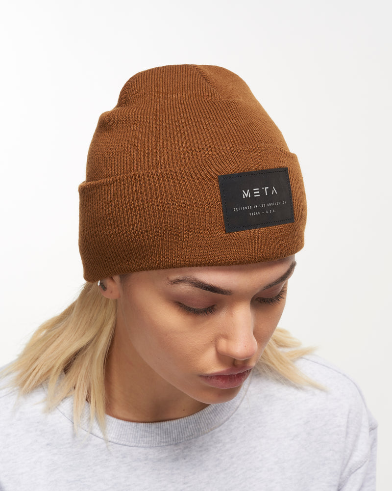 3M Reflective Patch Beanie Caramel
